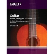 Guitar & Plectrum Guitar Scales & Exercises Grade 6-8 from 2016 by Trinity College London