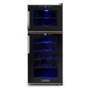 Reserva 21 Weinkühlschrank 2 Zonen 56 L 21 Flaschen Klasse D schwarz