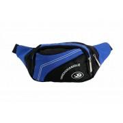 SRI Polyester 0.5 Ltrs Designer Waist Pouch For Men & Women - Blue Waist Bag(Blue, Black)