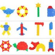 Magideal 160 Pcs Diy Building Blocks Brick Intelligence Jigsaw Puzzle Toy Kids Gift