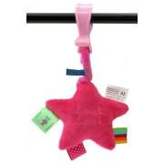 Label Label bibberster roze/fuchsia