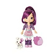 (US) The Bridge Direct Strawberry Shortcake Berry Best Friend Plum Pudding With Pitterpatch Fashion Doll, 6-Inch