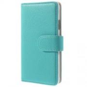 OEM Embossed Plånboksfodral till Samsung Galaxy Alpha - Blå