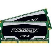Ballistix Sport Kit Memoria da 8 GB (4 GBx2), DDR3, 1600 MT/s (PC3-12800), SODIMM 204-Pin - BLS2C4G3N169ES4CEU