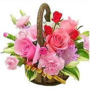 Basket of 15 Exotic Flower Gifts Flower Gift 190