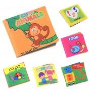 Bébé Livre Apprentissage En Tissu Premier - Pour Enfant Jouet Éducatif 01 Animal