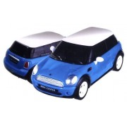 3D PUZZLE WORKS I 64 Piece Car CRYSTAL puzzles 1:32 BMW Painted Blue Mini Cooper by WORKS I