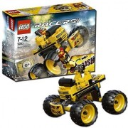 Set includes Motor Mike minifigure-Features monster truck with giant wheels and eject function-Turn minifigures head to