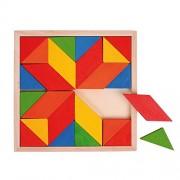 Bigjigs - Mosaico Vassoio, 24 pezzi (BIBJ 246)