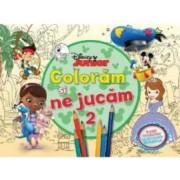 Disney Junior - Coloram si ne jucam 2. Planse de colorat cu activitati distractive