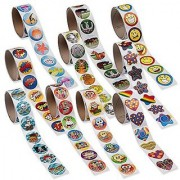 Super Sticker Assortment -1000 Stickers - 10 Rolls