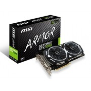 MSI GeForce GTX 1080 Armor 8G Oc Scheda Grafica, Interfaccia PCIe 3.0, 8 GB GDDR5X, 256bit, 2560 Cuda Cores, Nero