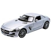 2010 Mercedes SLS AMG [Maisto 36196S], Plata, 1:18 Die Cast