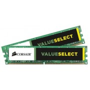 Corsair CMV16GX3M2A1333C9 Value Select Memoria per Desktop Mainstream da 16 GB (2x8 GB), DDR3, 1333 MHz, CL9