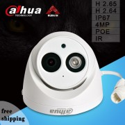 Dahua 4MP IPC-HDW4431C-A IP Camera H2.65 Built-in MIC HD IR 30m Network CCTV Support POE HDW4431C-A Dome Camera Onvif