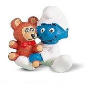 Schleich Baby Smurf Figure with Teddy