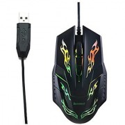 Sunreed I5 CENTROPHORUS-2400 DPI Gaming Mouse for PC 4 Buttons Weight Tuning Set Gaming Mouse Mic for Gamer