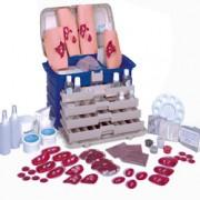 set 3 per simulazione di ferite / soccorso catastrofi - valigetta+kit