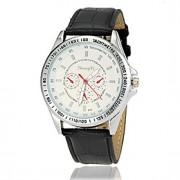 Masculino Relógio Elegante Quartz Couro Banda Preta / Branco / Marrom marca-