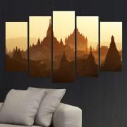 Декоративен панел за стена с Божественият град в Баган Vivid Home
