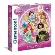 Clementoni 23020 - Clock Puzzle Princess