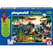 Joc Puzzle Playmobil Pirate Island Jigsaw With Figure 150 Piese
