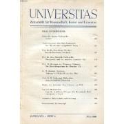 Universitas, Jahrg. 1, Heft 4, Juli 1946, Zeitschrift Für Wissenschaft, Kunst Und Literatur (Inhalt: Prälat Dr. Kreutz, Freibur Gl Br.: Caritas. Studentenpfarrer Otto Hof, Freiburg/Br.: Der ...