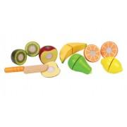 Hape - E3117 - Jeu d'Imitation en Bois - Cuisine - Fruits Frais à Découper