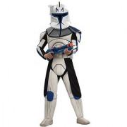 Star Wars Clone Wars Clone Trooper Child's Deluxe Captain Rex Costume Medium