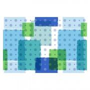 E-plast rotolo tappeto 15 mt h 65 cm fantasia blu