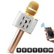 2600mAh Karaoke Microphone,10W Loud SOUND,Live Karaoke Effect, Wireless Singing Machine,Portable USB Condenser Mic w/ Hi-Fi Bluetooth Speaker for Smartphones iPhone Samsung A Recording Studio For Kids