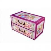 MISS SPACE Pudełko kartonowe 2 szuflady poziome SZKOŁA-PRZYBORY