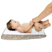 The Plush Pad Portable Changing Mat with Memory Foam - Best Travel or Lounge Mat for Baby - Bubbles In Cola