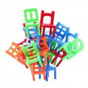 Sillas de apilamiento juego de equilibrio Puzzle de oficina de juguete educativo - multicolor (18pcs)
