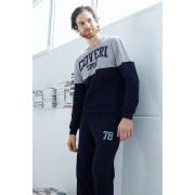 Мъжки памучен комплект Valerio син