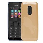 Nokia 105 Case,Orange Soft, Lightweight,Shock Absorbing Tpu Back Case Cover For Nokia 105