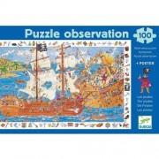 Djeco Puzzle obserwacyjne - Bitwa Piratów