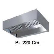 Chefline Cappa Aspirazione Centrale Profondità 220Cm Con Motore Incorporato - Cappa Aspirazione Centrale Larghezza 200Cm+Motore