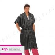 Kimono Nilon Largo Negro