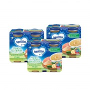 Mellin Babycena - Kit risparmio 3x Pappa Completa Verdure Semolino Pollo - KIT_3X_Confezione da 400 g ℮ (2 vasetti x 200g)