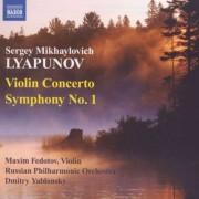 S.M. Lyapunov - Violin Concerto/ Sym. No.1 (0747313046270) (1 CD)