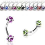 Rook piercing crystal ball roze