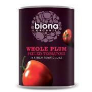 Rosii organice decojite in suc de rosii 400g Biona