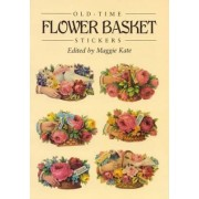 Old-Time Flower Basket Stickers by Maggie Kate