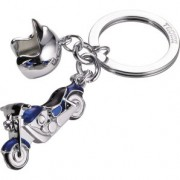 Breloc moto KEY-RING *CRUISING*, BLUE WITH MOTORBIKE AND HELMET