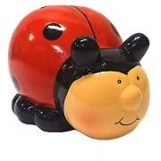 Ceramic Ladybug Bank - Red and Black - Children's Room Decor by ODS