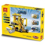 Power machine forklift 4-in-1 292pcs building blocks toy set similar to Technic Lego toys - great educational science pr