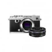 Aparat foto Mirrorless Olympus PEN-F 20.3 Mpx Silver Kit EZ-M 14-42mm Pancake Zoom