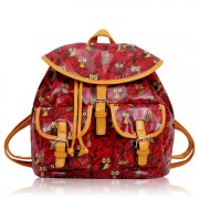 Batoh LS00270 - Red Oilcloth Owl Design Rucksack