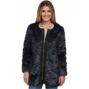 NYDJ Magical Fur Coat Knight Blue